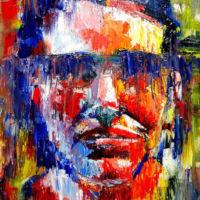Expressionist portrait of a man